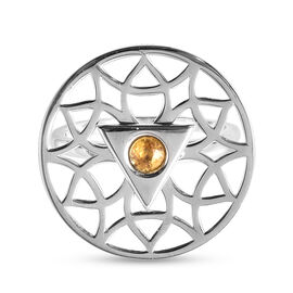 RACHEL GALLEY Chakra Collection - Yellow Sapphire Ring in Rhodium Overlay Sterling Silver