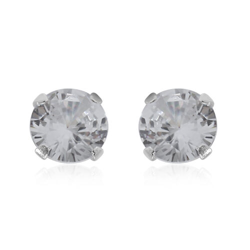 ELANZA 3 Piece Set Simulated Diamond Earrings in Sterling Silver