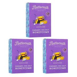 Buttermilk 3 x 150g Caramel Sea Salt Honeycomb sharing box