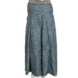 Green Printed Boho Skirt