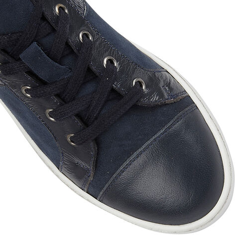 Lotus Stressless Navy Leather Sherlyn Casual Trainers (Size 8)