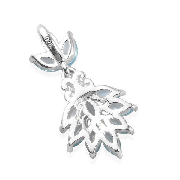 Paraibe Apatite Pendant in Sterling Silver 1.00 Ct.
