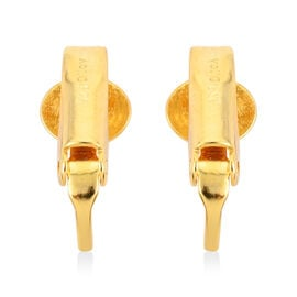 Yellow Gold Overlay Sterling Silver Clip On Earring Converter