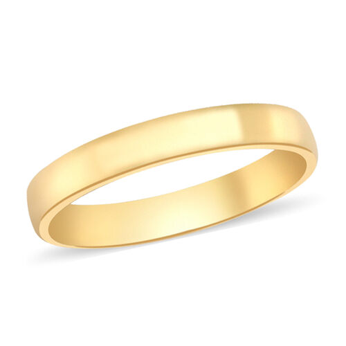 Personalise Engravable Plain 3mm  Band Ring in 9K Yellow Gold