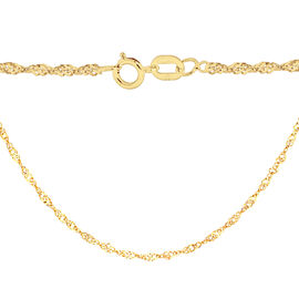 14K Gold Overlay Sterling Silver Twisted Curb Chain (Size 18)