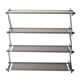 Durable and Portable Z-shaped Shoe Rack in Grey (Size 46x16x46 Cm)
