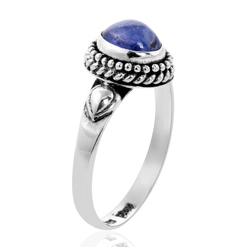 Royal Bali Collection - Tanzanite Solitaire Ring in Sterling Silver 1.63 Ct.