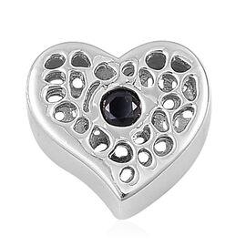 RACHEL GALLEY Kanchanaburi Blue Sapphire Heart Pendant in Rhodium Plated Sterling Silver