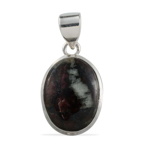 Eudialyte (Ovl) Solitaire Pendant in Sterling Silver 11.740 Ct.