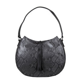 Bulaggi Collection - Quince Hobo Shoulder Bag (Size 27x35x11cm) - Black