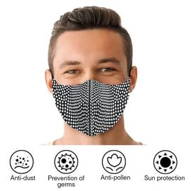 Reusable Fashion Face Covering With Rhinestones Crystals - Lattice