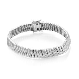 Close Out Deal-Diamond (Rnd) Bracelet (Size 7.5) in Platinum Plated