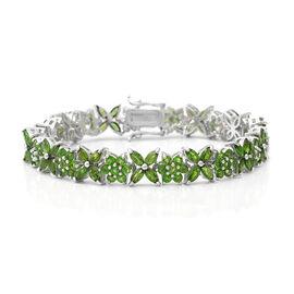 Russian Diopside Bracelet (Size 7.5) in Sterling Silver 20.06 Ct, Silver wt. 21.00 Gms