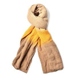 Khaki and Yellow Colour Scarf (Size 190x65 Cm)
