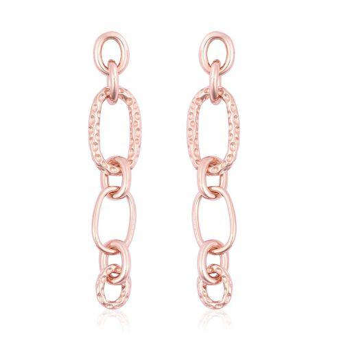 RACHEL GALLEY Ocean Link Long Drop Earrings in Rose Gold Plated Sterling Silver