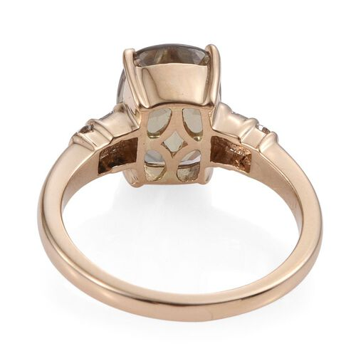 ILIANA 18K Y Gold Natural Turkizite (Cush 4.55 Ct), Diamond Ring 4.750 Ct.