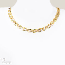 Italian Made 9K Yellow Gold V-Link Chain Vintage Style (Size 20), Gold Wt. 10.54 Gms