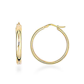 Vicenza Collection Hoop Earrings in 9K Yellow Gold
