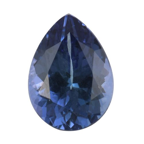 AA Peacock Tanzanite Pear 10x7 Faceted 1.92 Cts