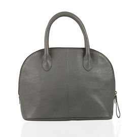Close Out Deal 100% Genuine Leather Grey Colour Chic RFID Blocker Large Tote Bag (Size 29x24x11 Cm)