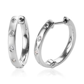 RHAPSODY 950 Platinum IGI Certified Diamond (Rnd) (VS/E-F) Hoop Earrings 0.150 Ct.