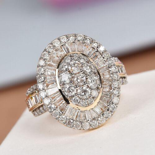9K Y Gold SGL Certified Diamond (I3/G-H) Ring 2.00 Ct, Gold wt. 4.13 Gms
