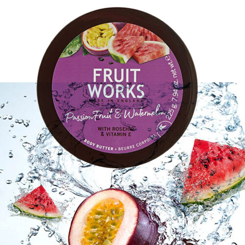 FruitWorks: Passion Fruit & Watermelon Body Butter (With Rosehip and Vitamin E) - 225 Gms