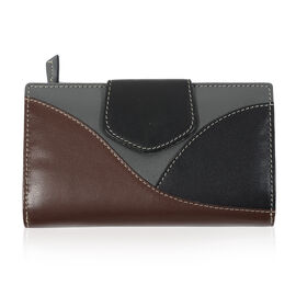 Multi Pocket Leather Wallet in Burgundy Colour