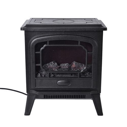 Black Colour Electronic Heater with Adjustable Thermostat Heat Settings (Size 41X36X24.2 Cm)