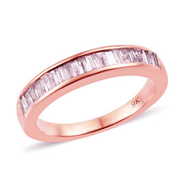 9K Rose Gold Diamond (Bgt) Band Ring 0.500 Ct.