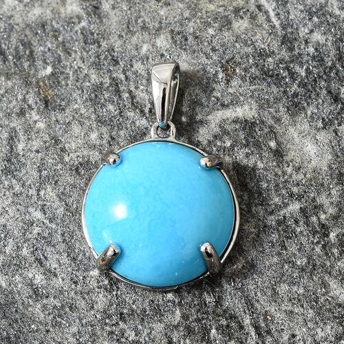RHAPSODY 950 Platinum AAAA  Arizona Sleeping Beauty Turquoise (Rnd) Pendant 9.000 Ct.