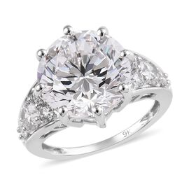 J Francis Made with SWAROVSKI ZIRCONIA Solitaire Ring in 9K White Gold 4.12 Grams