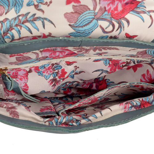 Genuine Leather RFID Blocker Burgundy Colour Sling Bag with Adjustable Shoulder Strap (Size 32X26X10 Cm)