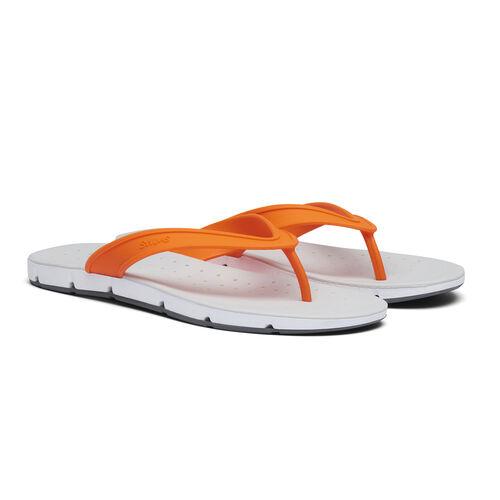 Swims Breeze Mens Flip Flop Sandals (Size 10) - Orange, White and Grey