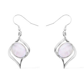 Royal Bali Collection Mother of Pearl Drop Earrings with Hook in Sterling Silver