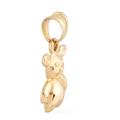 Istanbul Treasure Collection- 9K Yellow Gold Teddy Bear Pendant