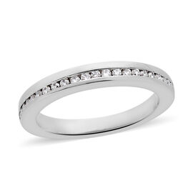 RHAPSODY 950 Platinum IGI Certified Diamond (Rnd) (VS/E-F) Half Eternity Band Ring 0.200 Ct, Platinu