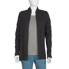 New Arrival Black Polka Printed Jersey Cardigan