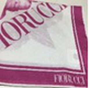FIORUCCI Pink and White Scarf (Size 45x45cm)