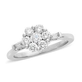 ILIANA 18K White Gold IGI Certified Diamond (Rnd) (SI/G-H) Ring  0.755  Ct.