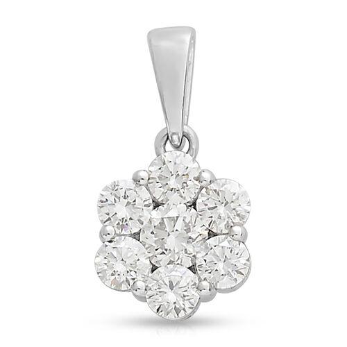 RHAPSODY 1 Carat Diamond Pressure Set Pendant in 1.53 Grams IGI Certified VS EF