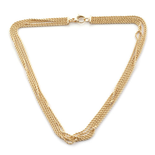 Royal Bali Collection 20 Inch Rope Necklace in 9K Gold 13.62 Grams
