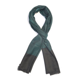 100% Cashmere Wool Teal Colour Scarf (Size 200x70Cm)