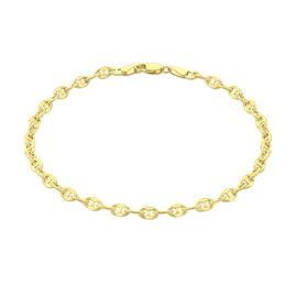 Italian Made 9K Yellow Gold Mariner Bracelet (Size 7.5), Gold wt 1.60 Gms.