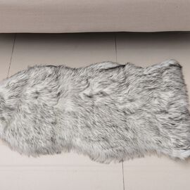Faux Sheep Skin Rug (Size 100x60 Cm)