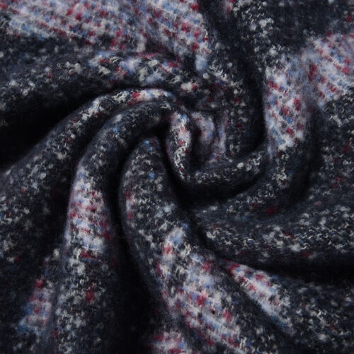 Dark Black Colour Abstract Pattern Scarf (Size 220x50 Cm)