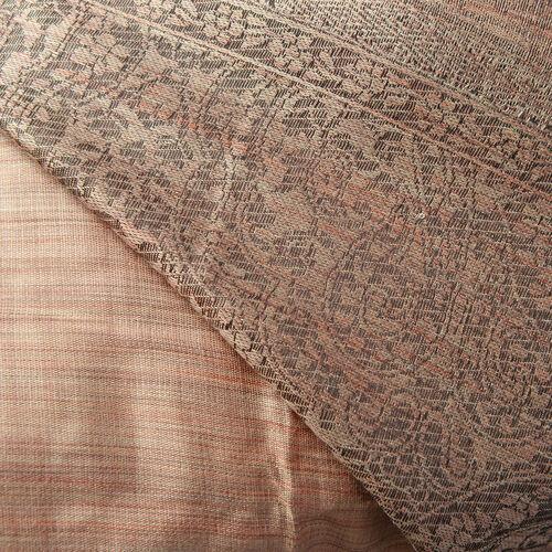 Melange Cutwork Brown Colour Woven Scarf (Size 180x70 Cm)