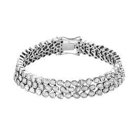 GP Polki Diamond Bracelet (Size - 8) in Platinum Overlay Sterling Silver 7.52 Ct, Silver Wt. 33.36 G
