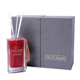 The 5th Season - 150ml Reed Diffuser Air Freshener in Gift Box with Artificial Flower - Red (French