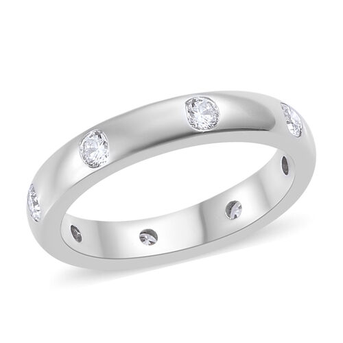 RHAPSODY 950 Platinum IGI Certified (VS/E-F) Diamond (Rnd) Band Ring 0.500 Ct, Platinum wt 5.67 Gms.